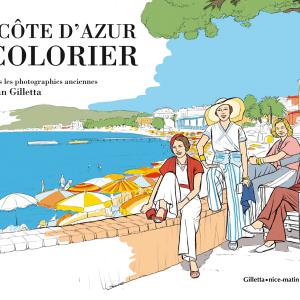 Couverture La Côte d'Azur à colorier
